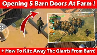 Opening 5 Barn Doors At Farm + Kiting Away Savage Giants! Last Day On Earth Survival
