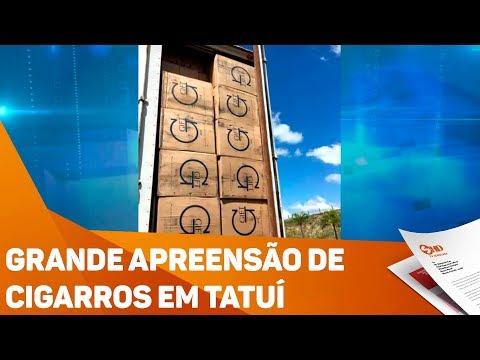 Grande apreensão de cigarros em Tatuí - TV SOROCABA/SBT