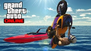 GTA 5 - Top 10 stunts ! Epic Boats landing !