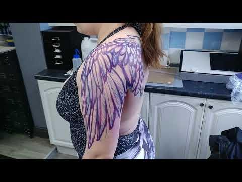 Realistic Wing Tattoo