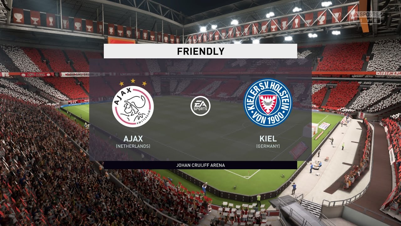Fifa 20 Ajax Vs Holstein Kiel Club Friendly 25 08 2020 1080p 60fps Youtube