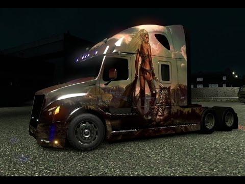 Euro Truck Simulator 2 Daimler inspiration New Freightliner RusMap Рейс из Бреста в ЛёдзЬ
