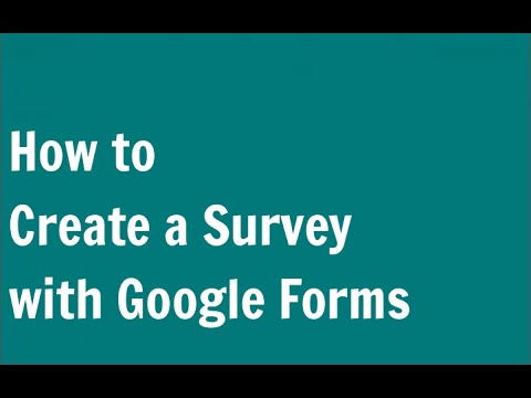 How to Create a Survey with Google Forms (Google Docs)