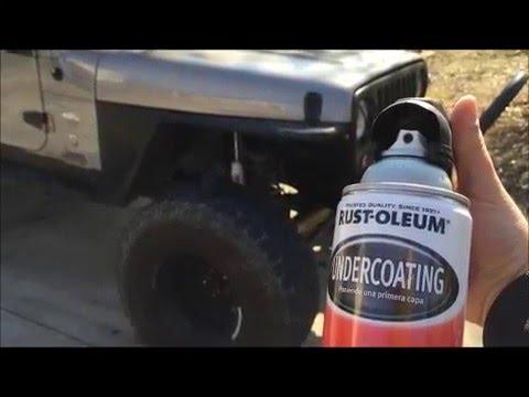 Undercoating Wheel Well On 2001 Jeep Wrangler Youtube