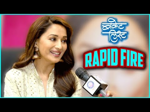 Bucket List | Madhuri Dixit  To Play Rapid Fire | Marathi Movie 2018