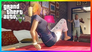 What Happens If Franklin Gets Caught Inside Of Michael De Santa's House In Grand Theft Auto 5?
