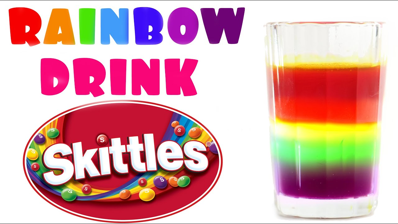 Skittles rainbow drink how to make a skittles non for Fun cocktails to make
