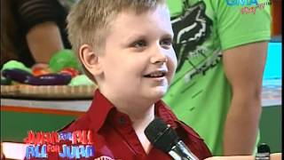 Tagalog speaking 10-yr old American boy on Eat Bulaga