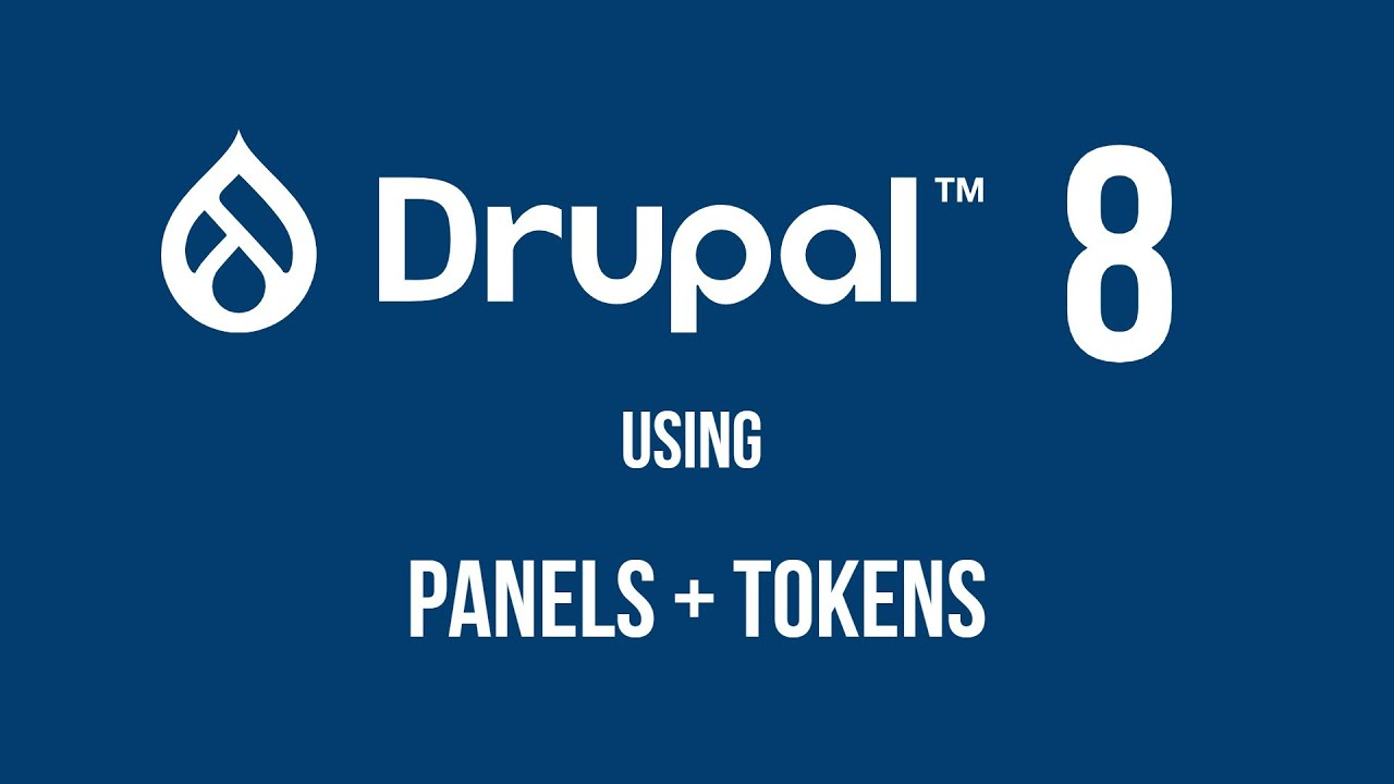 Drupal 8: panels and tokens