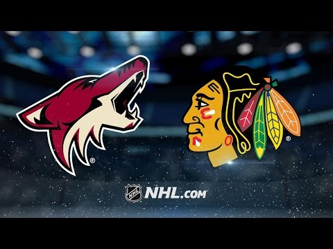 Kane's hat trick leads Hawks past Coyotes