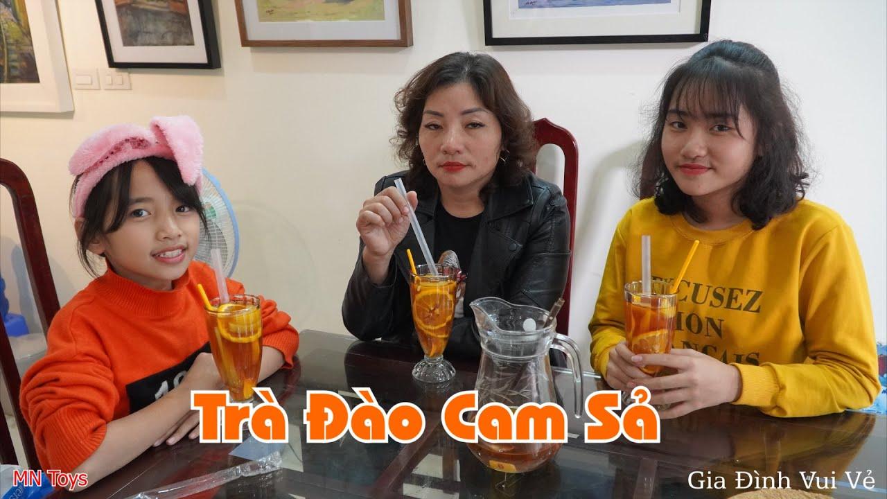 Mẹ Làm Trà Đào Cam Sả Cho Hồng Anh và Thuỳ Giang - Gia Đình Vui Vẻ - MN Toys
