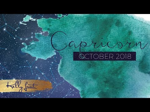 Capricorn October Intuitive Horoscope ~ Accept The New Good & Release Control #KellyLunt