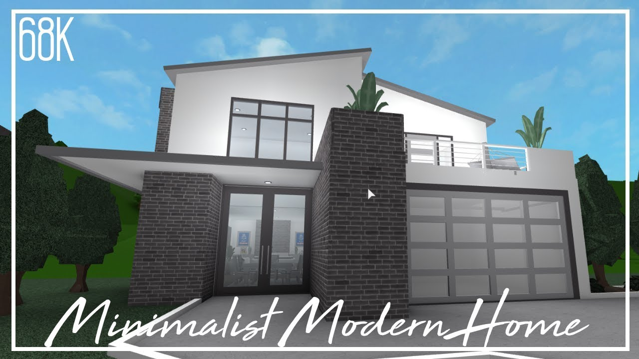 Roblox welcome to bloxburg minimalist modern home