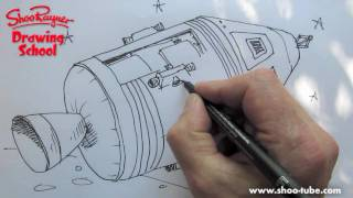 How to draw a NASA Apollo spacecraft