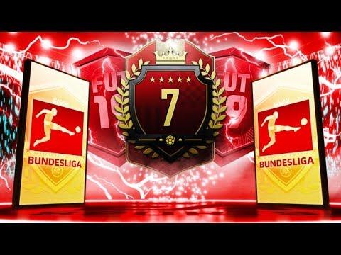 7TH IN THE WORLD TOP 100 BUNDESLIGA TOTS FUT CHAMPIONS REWARDS! FIFA 19