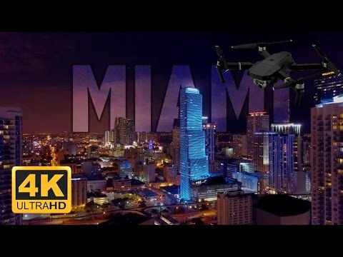 4K Brickell City Centre Downtown Miami at Night