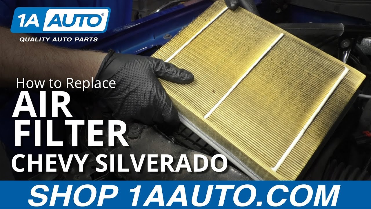 How to Replace Air Filter 14-19 Chevy Silverado