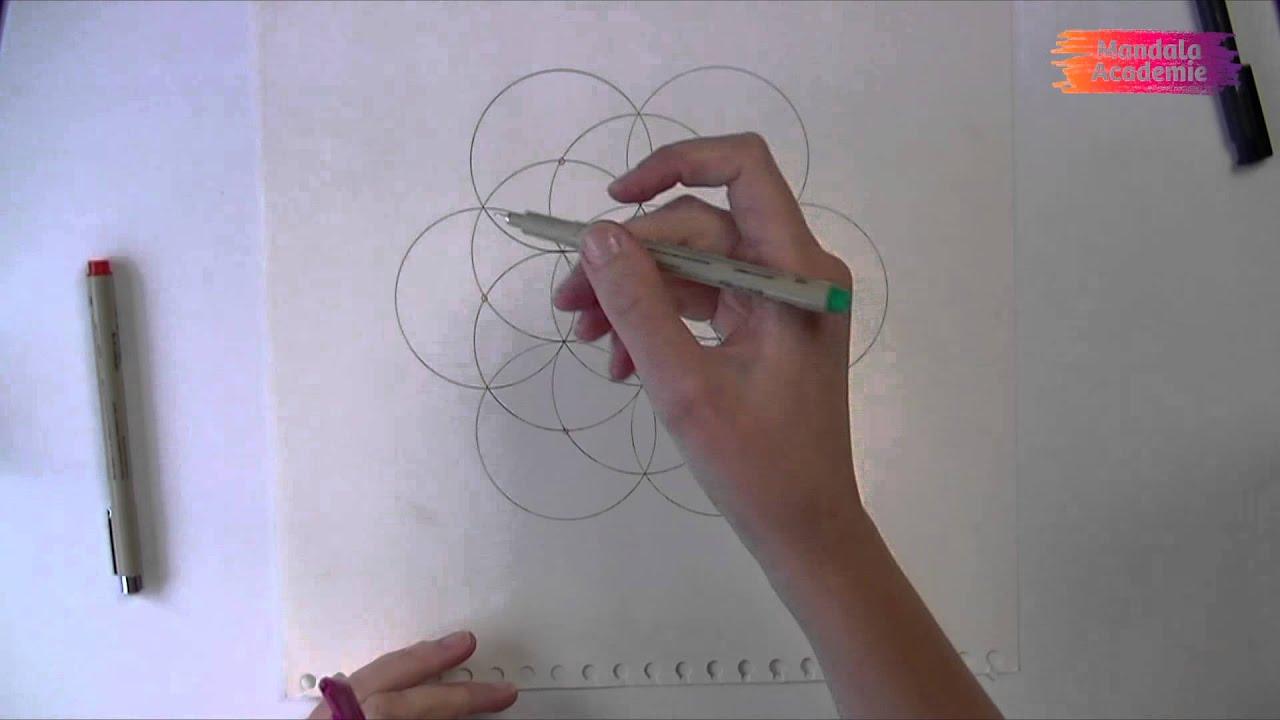 Hoe teken je de levensbloem (flower of life) mandala   youtube