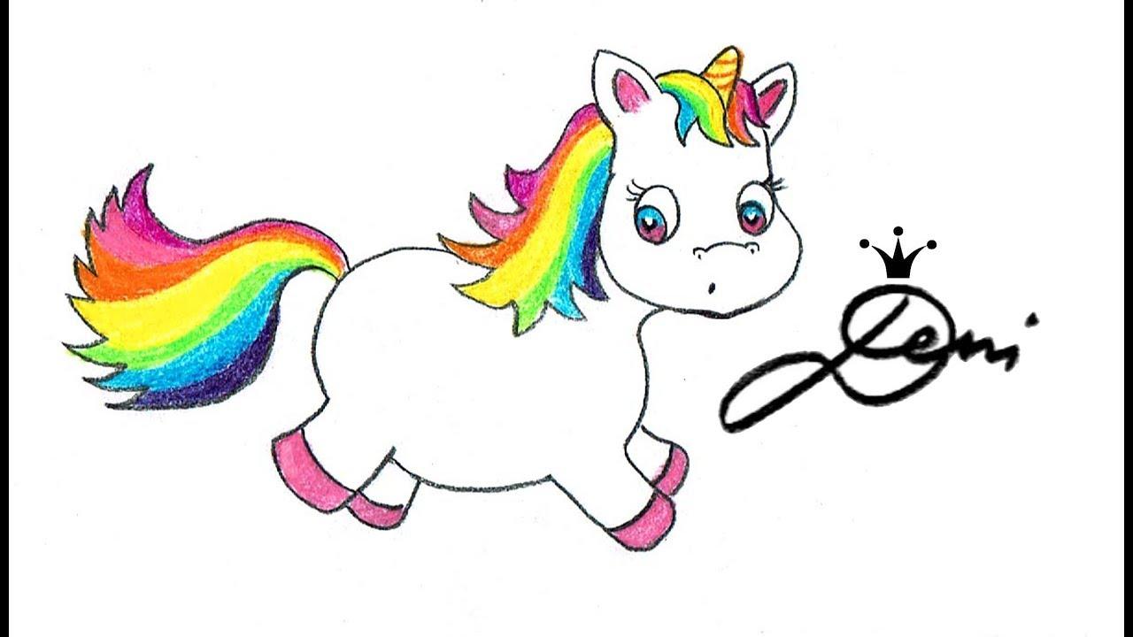 Sweet Unicorn Drawing Süßes Einhorn Zeichnen сладко