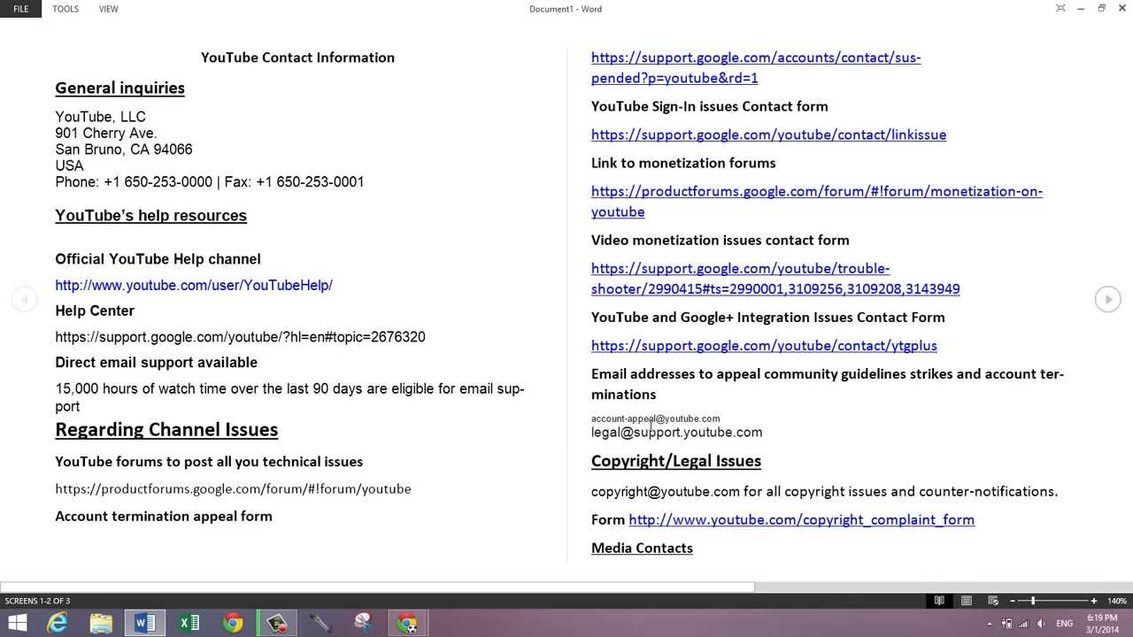 How To Contact YouTube Support: All The Info Is Here 2014! - YouTube
