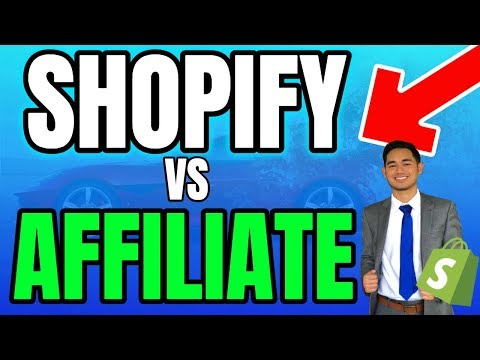 Shopify VS Affiliate Marketing - Best Online Business to Start in 2018? thumbnail