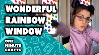 WONDERFUL RAINBOW WINDOW - One Minute Crafts