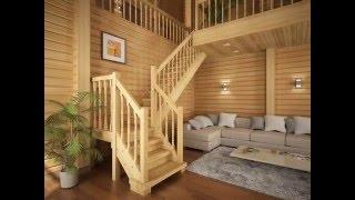 видео Деревянные лестницы на второй этаж в частном доме: проекты и фото образцов