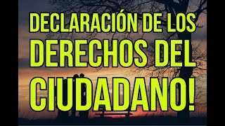 ???? DECLARACIÓN DE LOS DERECHOS DEL CIUDADANO