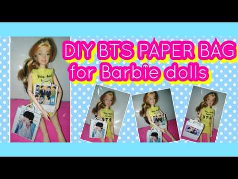 DIY BTS PAPER BAG FOR BARBIE 💜