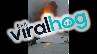 Unbelievable Salt Water Disposal Site Explosion || ViralHog