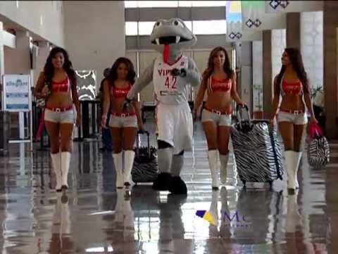 McAllen International Airport and Fang the Vipers Mascot.