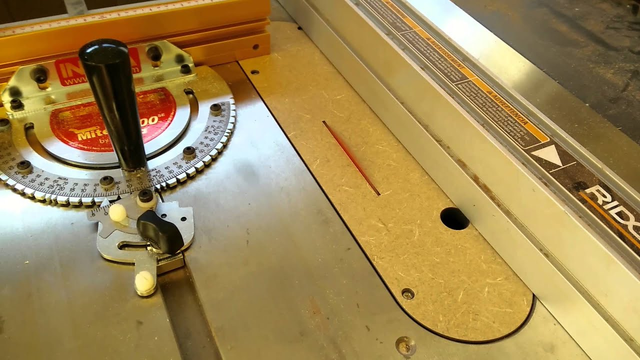 Cutting a new zero clearance insert on the ridgid r4512 table saw cutting a new zero clearance insert on the ridgid r4512 table saw greentooth Images