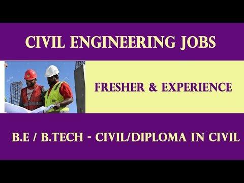 Civil Enigneering Jobs -  Fresher And Experience.  Diploma In Civil / B. E &B .Tech Civil.