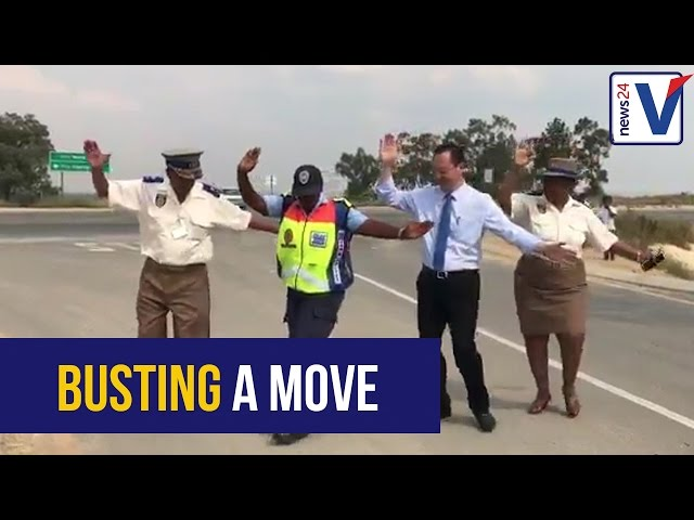 WATCH: Dancing traffic warden gets a visit from Safety MMC