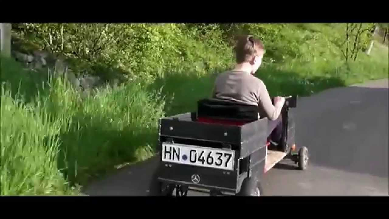 selbstgebaute elektro - seifenkiste - youtube