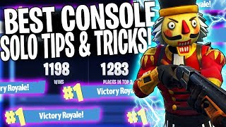 "HOW TO GET MORE SOLO WINS IN FORTNITE! | ""Console Tips & Tricks In Winning More Games"""
