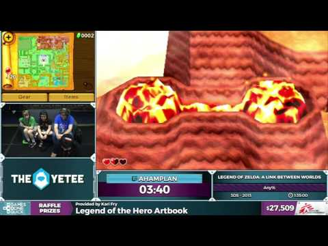 The Legend of Zelda: A Link Between Worlds by Ahamplan in 1:26:57 - SGDQ2016 - Part 3