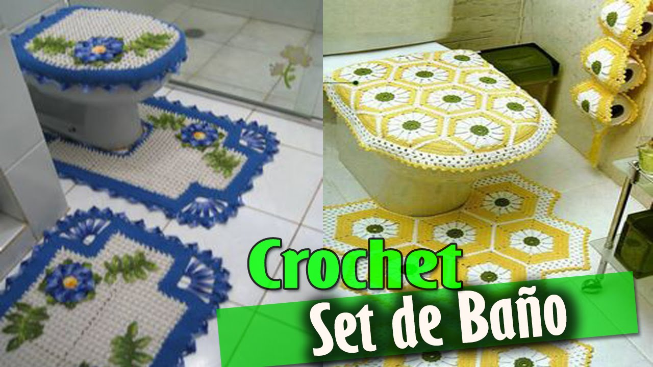set de ba o tejidos a crochet dise os e ideas youtube