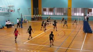 2017 B Div National Quarter Final Girls CGS vs CCHY 2-0 1st set