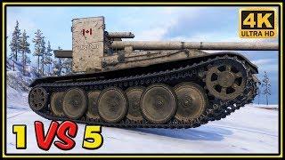 Grille 15 - 9 Kills - 1 VS 5 - World of Tanks Gameplay - 4K Ultra HD Video