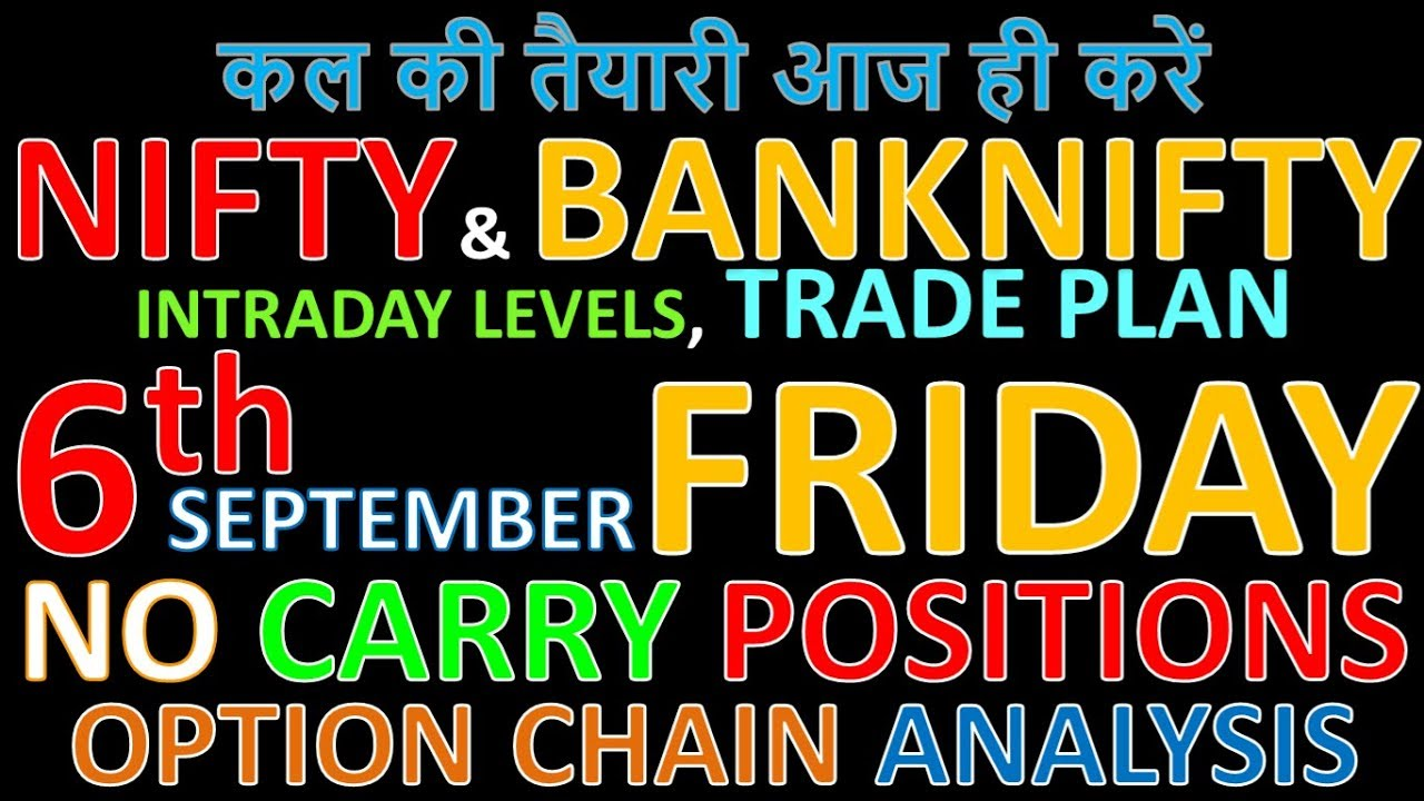 Bank Nifty & Nifty tomorrow 6th September 2019 Daily Chart Analysis SIMPLE  ANALYSIS POWERFUL RESULTS