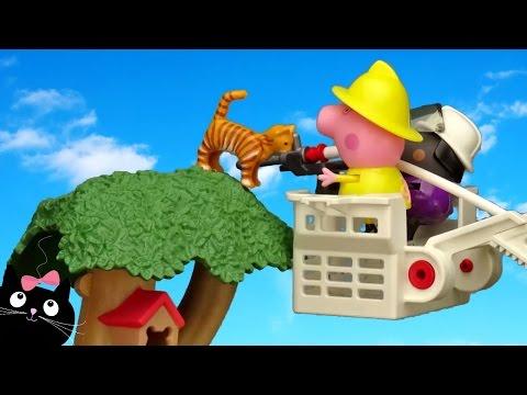 Peppa pig en espa ol peppa cerda y el camion de bomberos funnycat tv - Peppa pig la casa del arbol ...