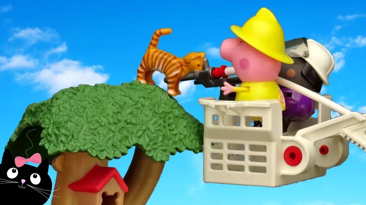 Peppa pig bombera rescata a gatita en la casa del rbol v deos de juguetes peppa pig en - Peppa pig la casa del arbol ...