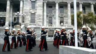Royal Marines Band in Wellington