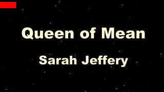Queen Of Mean - Sarah Jeffery ( Karaoke  + Lyric)