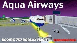 Aqua Airways Boeing 757 Roblox vôo) rblx bubgaming