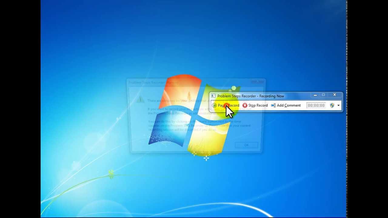recording screen windows 7