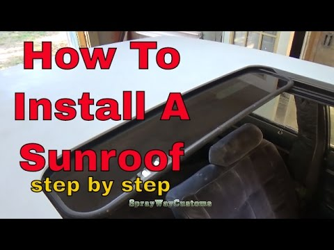 How To Install A Custom Sunroof / Box Chevy Caprice Sunroof Installation