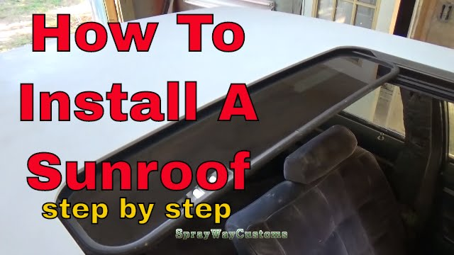 How To Install A Custom Sunroof / Box Chevy Caprice Sunroof