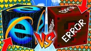¡BATALLA de LUCKY BLOCKS INTERNET vs LUCKY BLOCKS ERROR! 😱💥 LUCKY BLOCKS MINECRAFT MOD